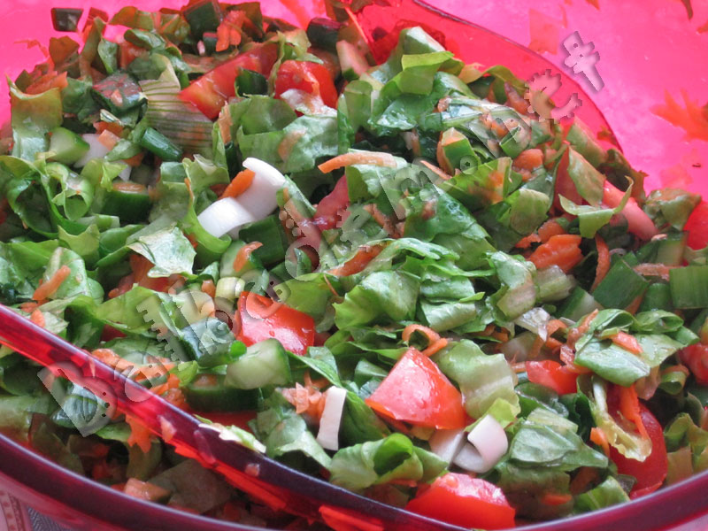 Tamamen organik Yeşil Salata