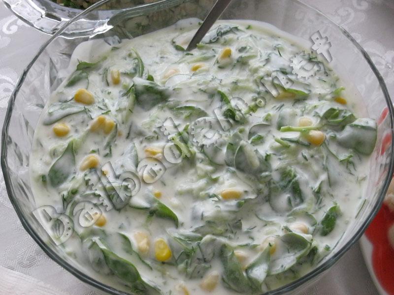Yoğurtlu Semiznotu Salatası