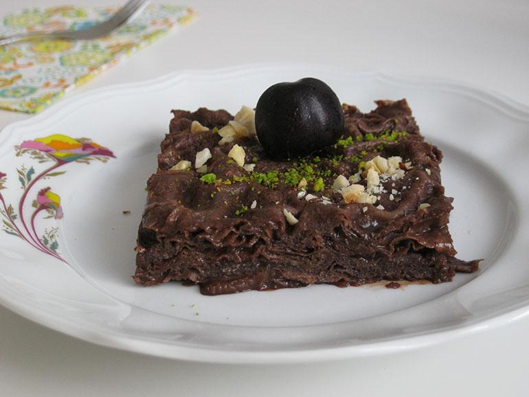 Çikolatalı Güllaç