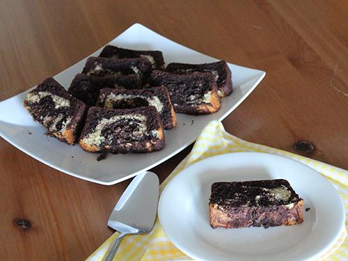 Çikolatalı Bademli Mermer Kek
